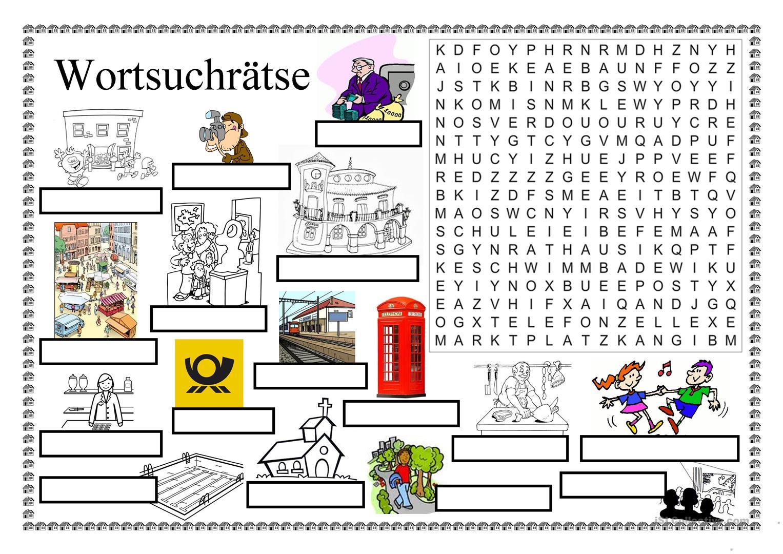Wortsuchrätsel Zum Ausdrucken Inspirierend Wortsuchrätsel In Der Stadt Arbeitsblatt Kostenlose Galerie