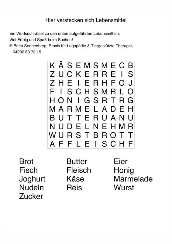 Wortsuchrätsel Zum Ausdrucken Neu Buchstabensalat Lebensmittel Sprache Madoo Sammlung