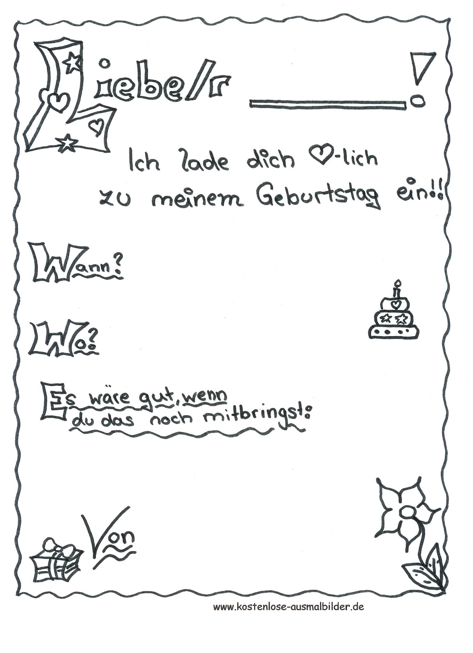 Ausmalbilder 10 Jahre Frisch Malvorlage Geburtstag Malvorlagen Für Kinder Galerie