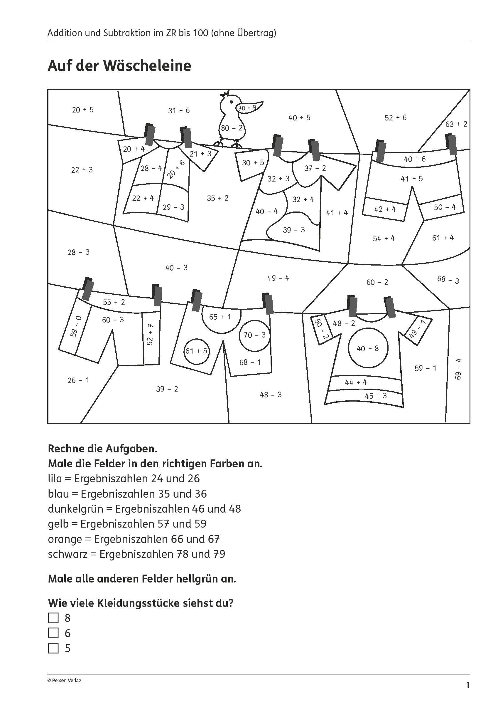 Ausmalbilder 2. Klasse Genial Grundschule Unterrichtsmaterial Mathematik Bilder