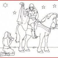 Malvorlage Sankt Martin Pferd