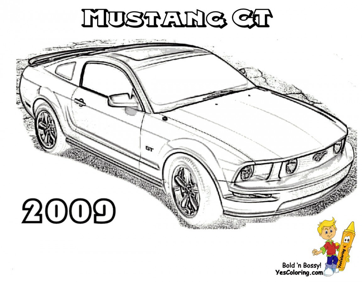 Ausmalbilder Auto Einzigartig Mustang Coloring Pages Stock