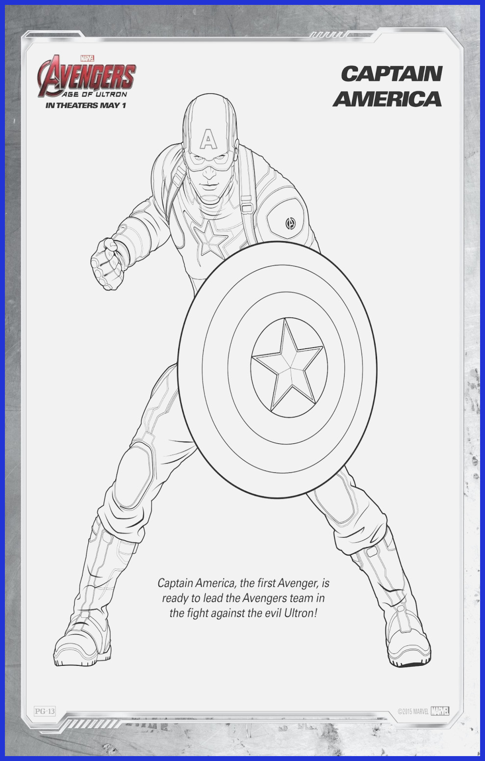 Ausmalbilder Captain America Genial Captain America Coloring Sheet Das Bild