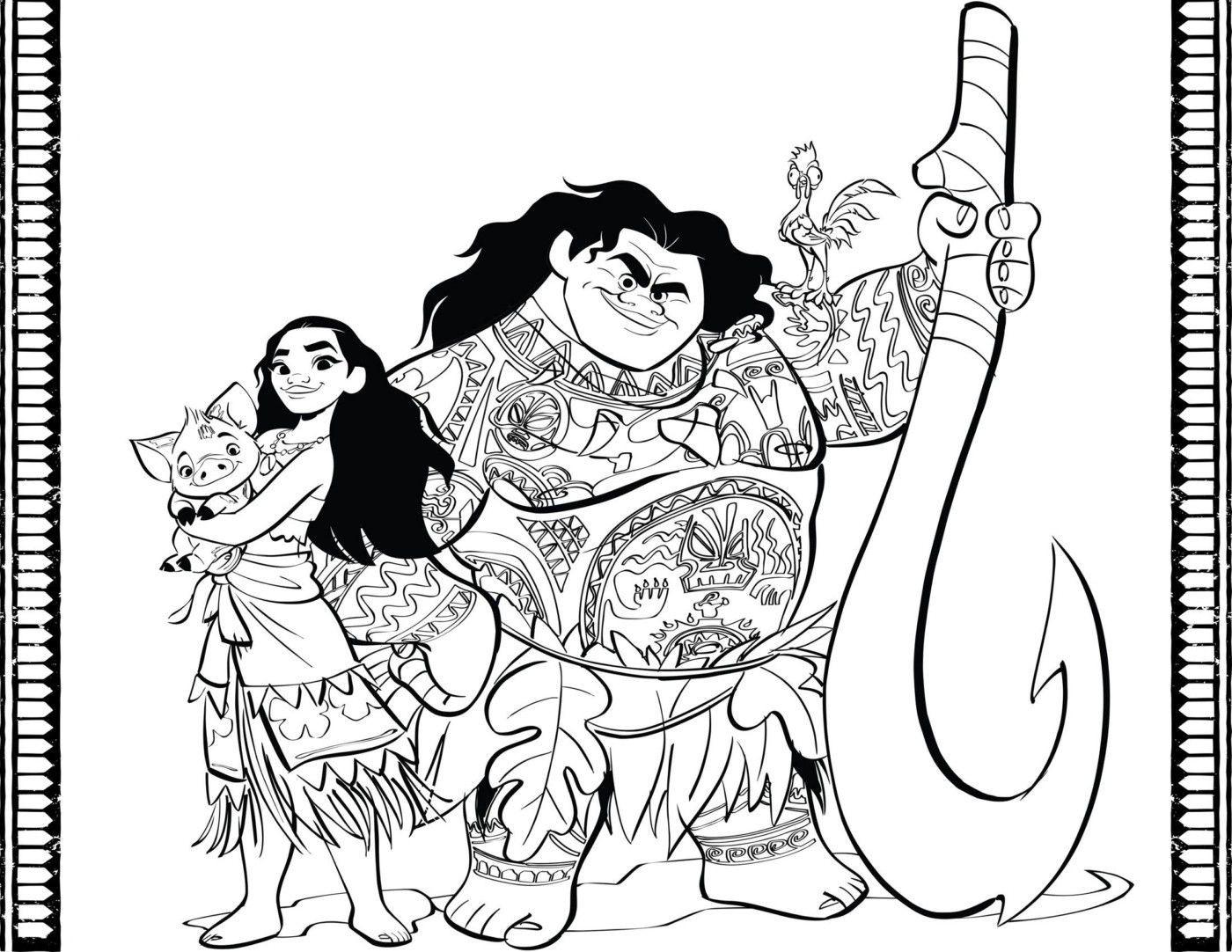 Ausmalbilder Disney Vaiana Genial Vaiana Kleurplaat Vaiana Maui Pua Sznező Das Bild
