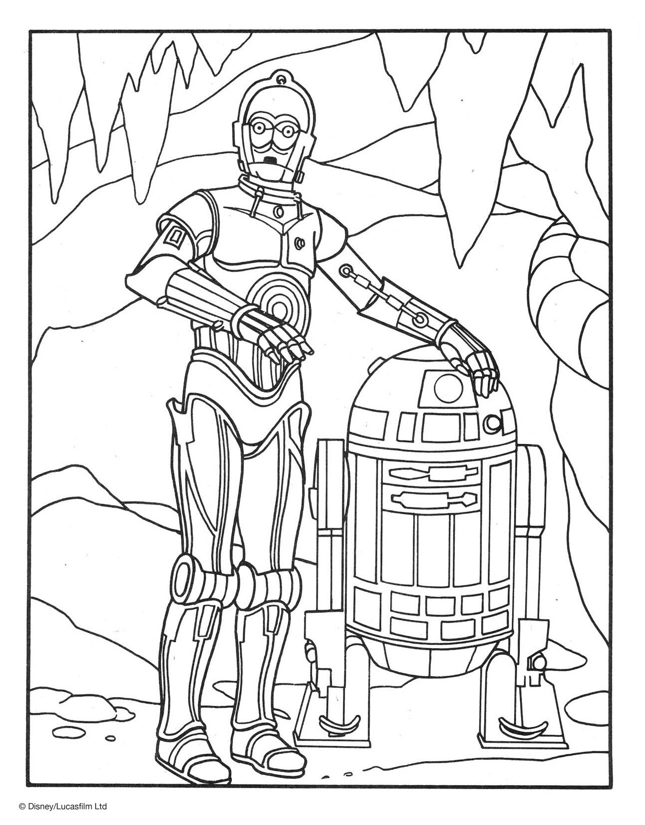 Ausmalbilder Glücksbärchis Frisch R2d2 and C3po Coloring Page Disney Family Fotos