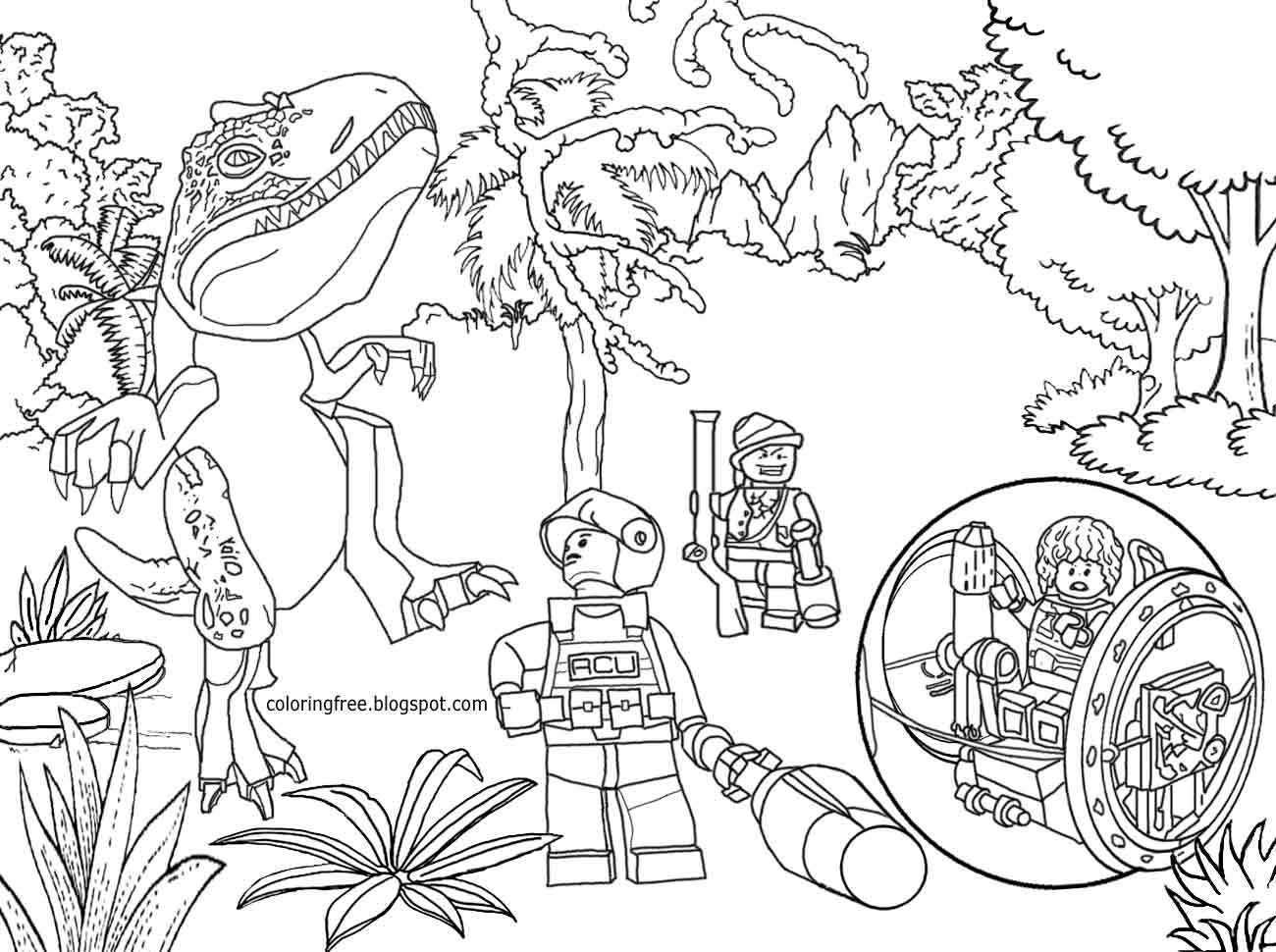 Coloring Pages Lego Jurassic World Game Codes Thet Ps4 All