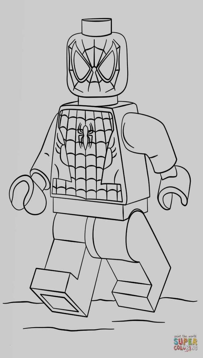 Ausmalbilder Lego Genial Lego Spiderman Coloring Kanta Stock