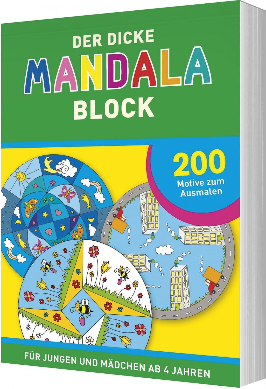 Ausmalbilder Mädchen Genial Der Dicke Mandala Block 200 Motive Zum Ausmalen • Für Jungen Und Mädchen Ab 4 Jahren Sammlung