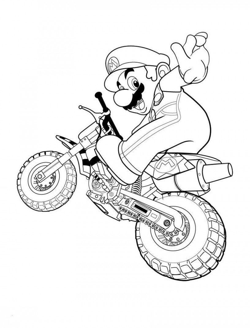 Ausmalbilder Mario Frisch Motorcycle Color Pages Super Mario Coloring Pages 01 Work Pinterest Stock