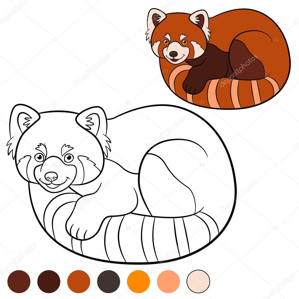 Ausmalbilder Natur Einzigartig Kolorowanki Red Panda Little Cute Red Panda — Grafika Bild