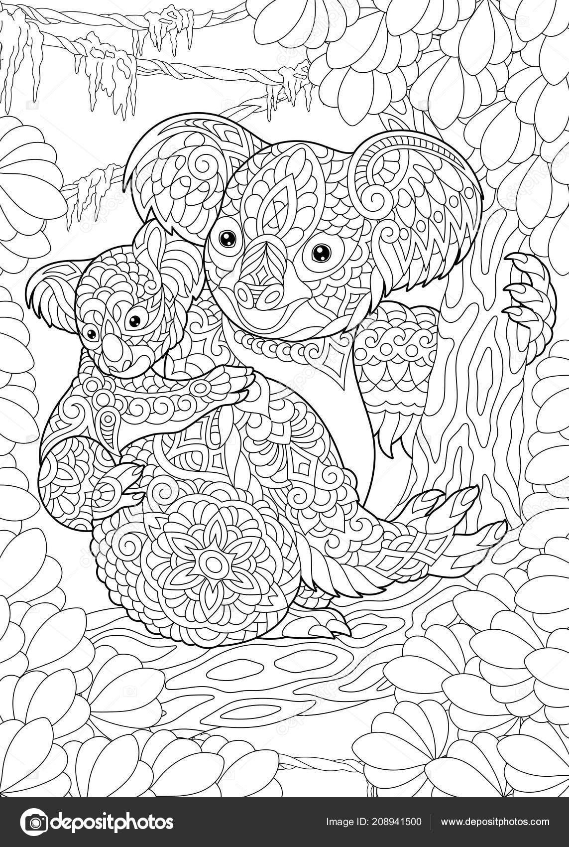 Ausmalbilder Natur Genial Kolorowania Kolorowanka Zabarwienia Obrazu Misie Koala Das Bild