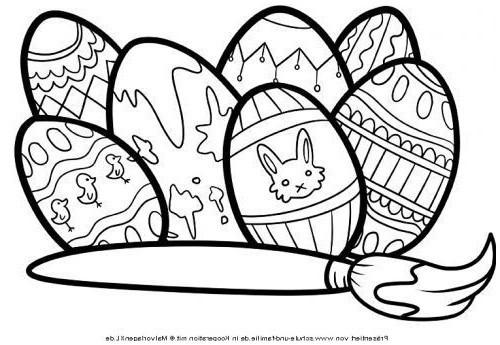 Ausmalbilder Ostern Zum Ausdrucken Frisch Malvorlagen Kostenlos Ausdrucken Ostereier Bemalen Zum Ausmalen Das Bild