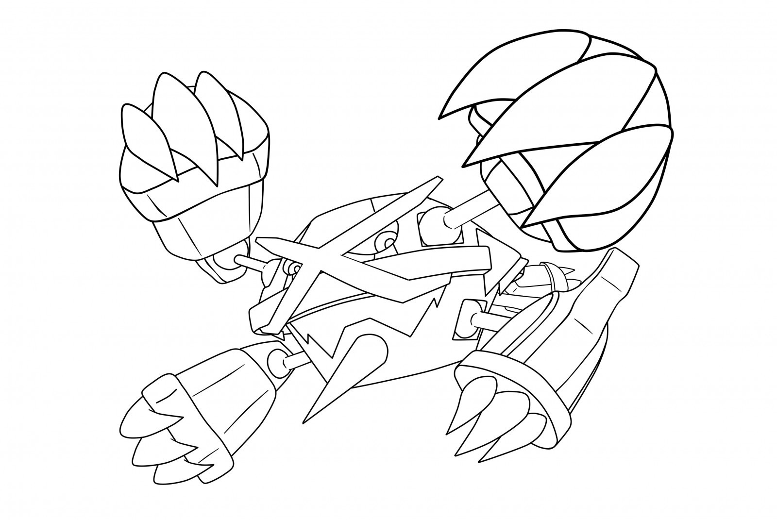 The best free Rayquaza coloring page images Download from