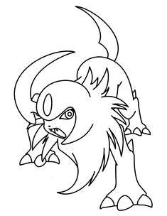 Ausmalbilder Pokemon Nachtara Frisch Pinterest Stock