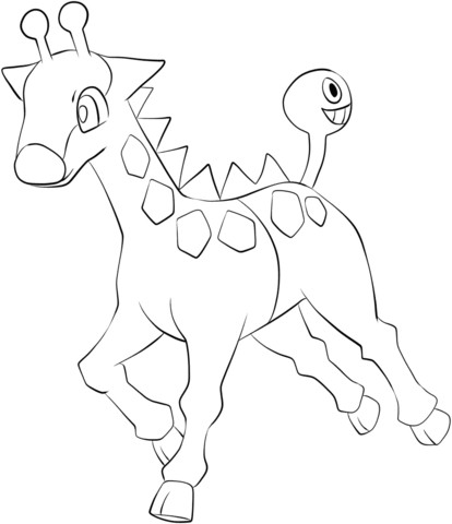 Ausmalbilder Pokemon Plinfa Einzigartig to See Printable Version Of Girafarig Coloring Page Stock