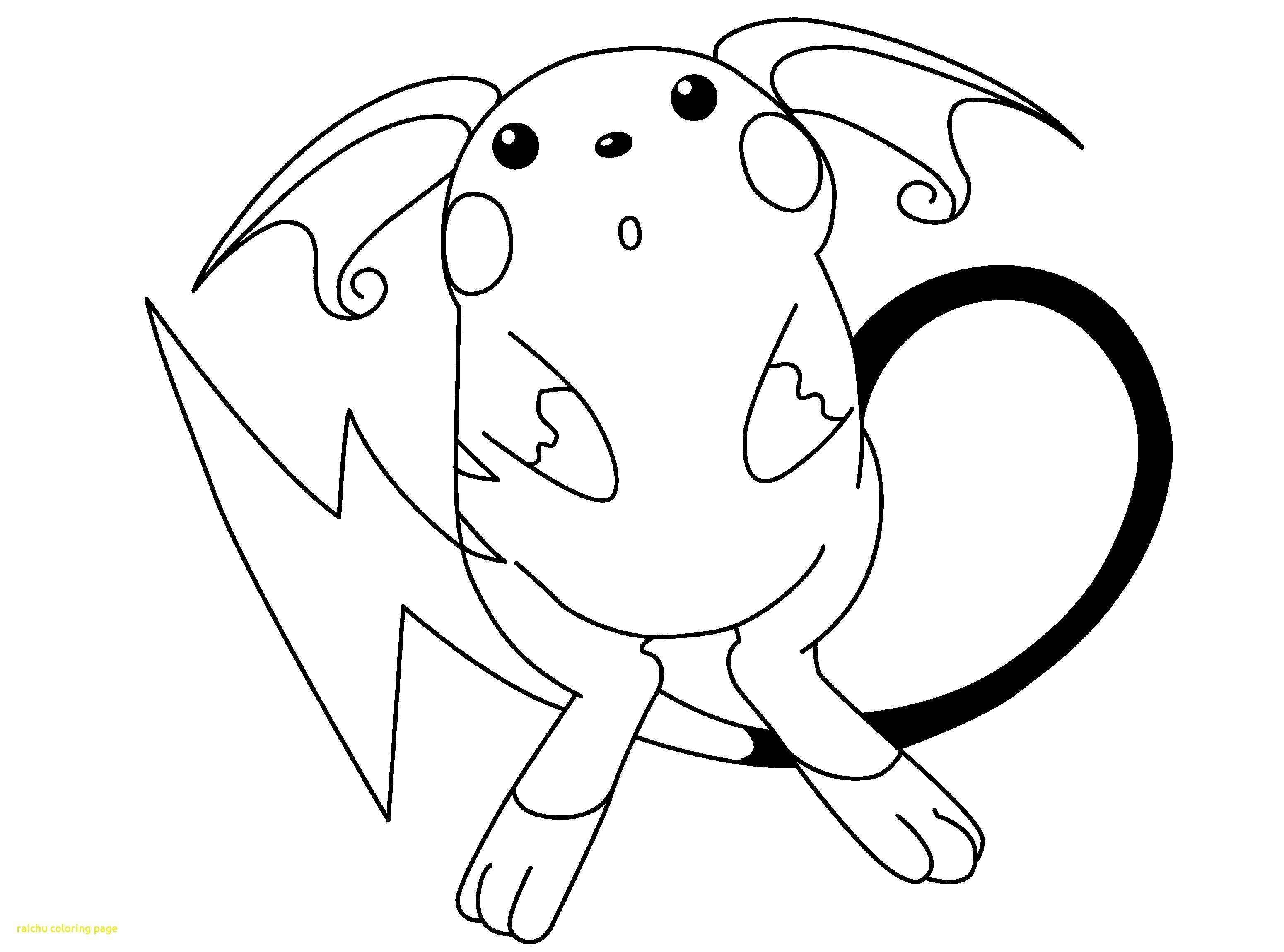 Ausmalbilder Pokemon Raichu Neu Raichu Coloring Page Stock