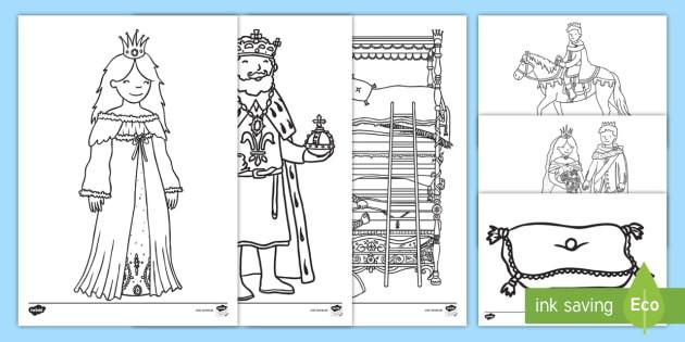 Ausmalbilder Prinzessin Frisch Die Prinzessin Auf Der Erbse Ausmalbilder Märchen Geschichte Lesen Sammlung