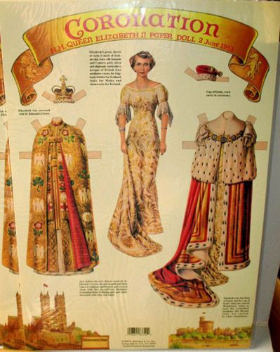 Ausmalbilder Queen Elizabeth Genial Queen Elizabeth Coronation Paper Doll Lot Of 12 Nos New Sealed Stock