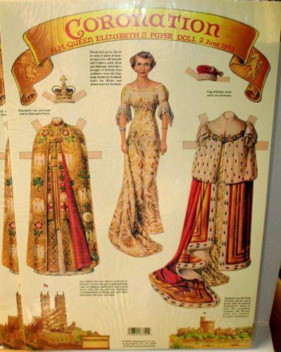 Ausmalbilder Queen Elizabeth Genial Queen Elizabeth Coronation Paper Doll Lot Of 12 Nos New Sealed Stock