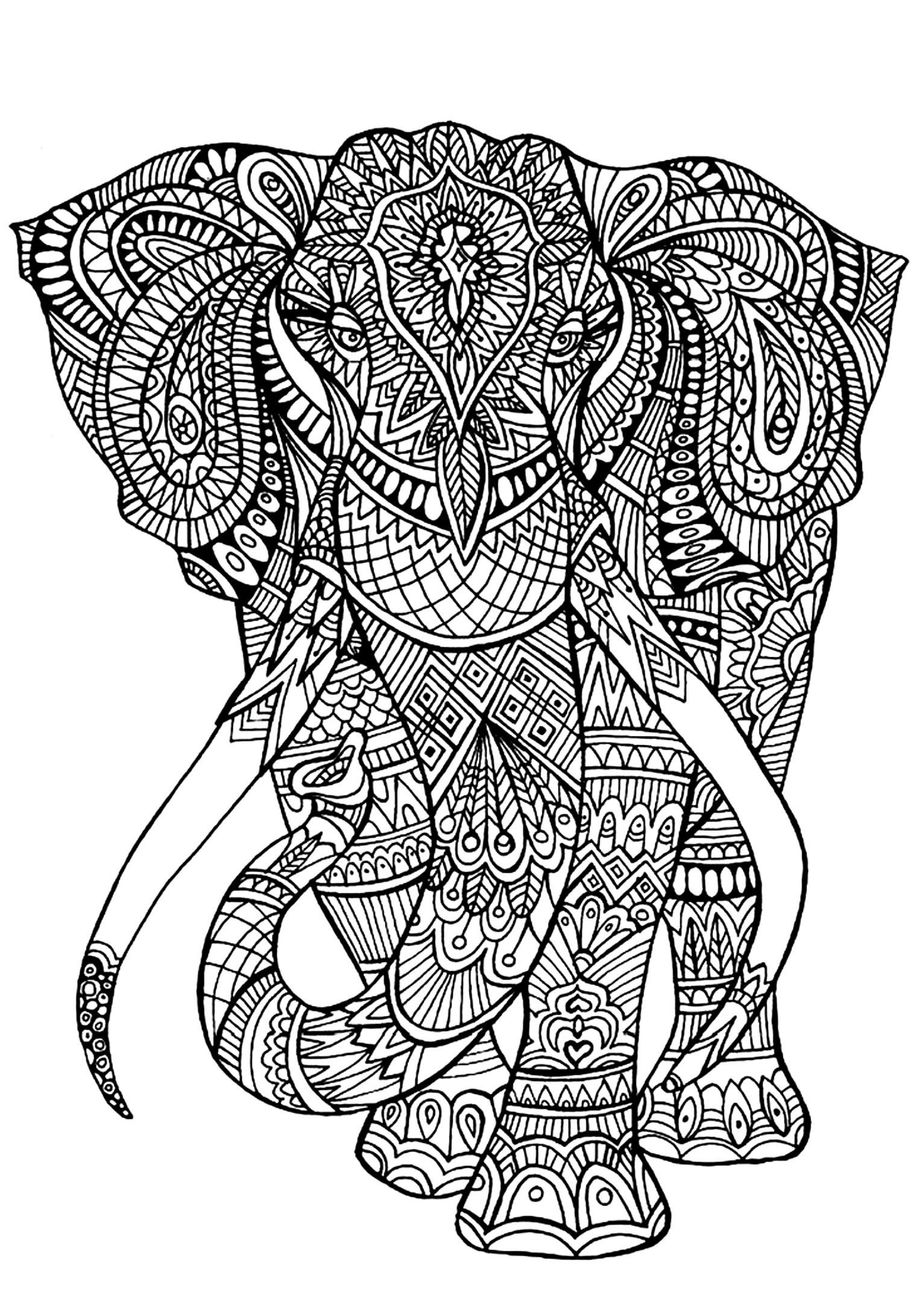 Ausmalbilder Querflöte Das Beste Von Picture Elephantdifficult2 Ampquot Animals Das Bild