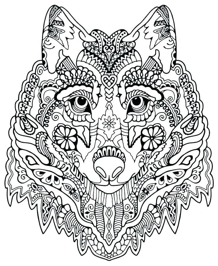 Ausmalbilder Querflöte Einzigartig Wolf Coloring Pages for Adults Wolves Mandala Coloring Pages Das Bild