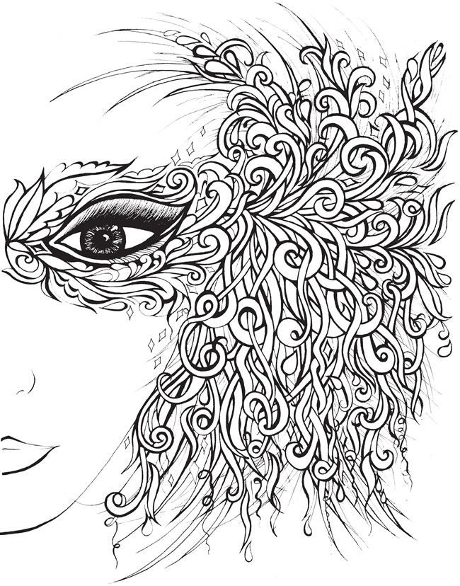 Ausmalbilder Querflöte Inspirierend Creative Haven Fanciful Faces Coloring Book Wel E to Dover Galerie