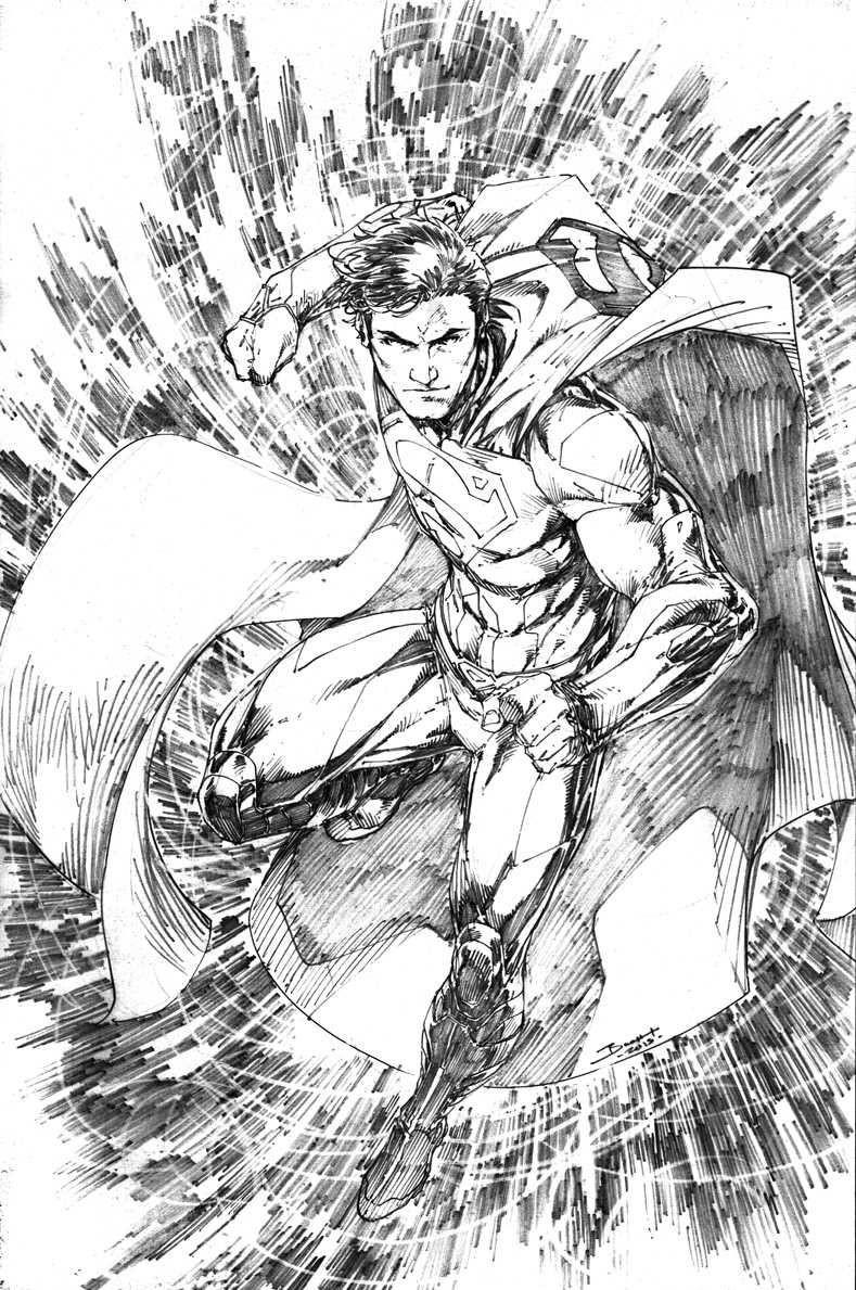 Ausmalbilder Superhelden Genial Superman by Brett Booth Sups Sammlung