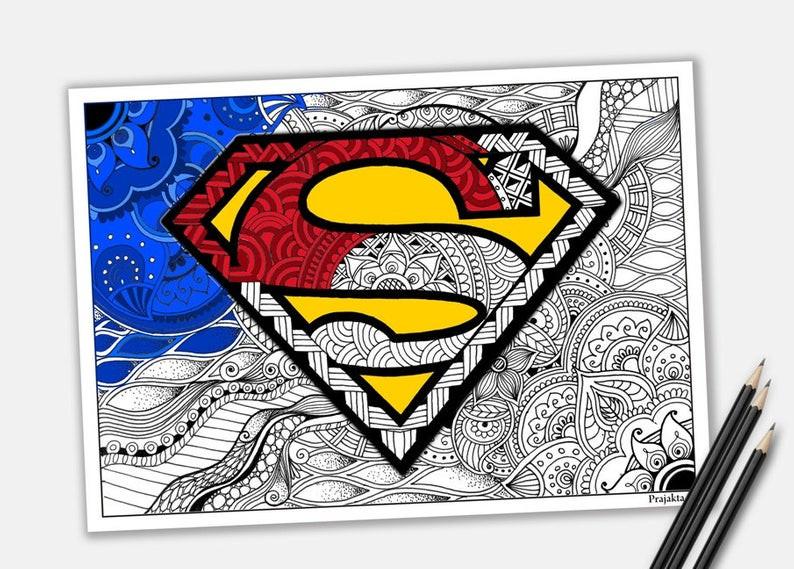 Ausmalbilder Superhelden Genial Superman Logo Zum Ausdrucken Stock