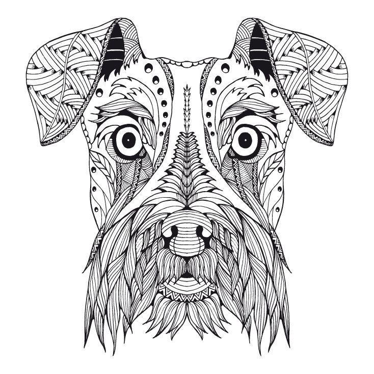 Ausmalbilder Tiere Kostenlos Frisch Kostenloses Ausmalbild Hund Schnauzer Die Gratis Mandala Galerie