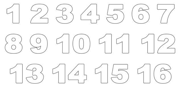 Ausmalbilder Zahlen Genial Zahlen Ausdrucken Gratis Fotografieren