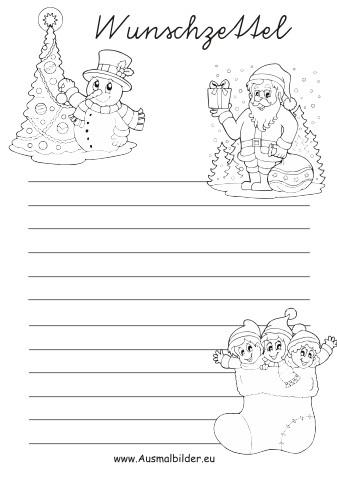 Ausmalbild Weihnachten Bilder Zum Ausmalen Inspirierend Kostenlose Malvorlage Wunschzettel Stock