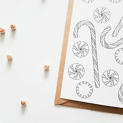 Ausmalbilder Frohe Weihnachten Neu Weihnachtskarten Zum Ausmalen 10 Karten Set Frohe Weihnachten Bild