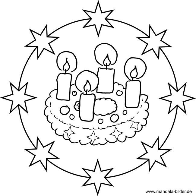 Ausmalbilder Weihnachten Adventskranz Das Beste Von Weihnachten Mandala Ausmalbilder Stock
