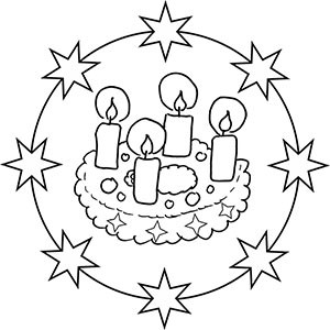 Ausmalbilder Weihnachten Adventskranz Frisch Weihnachten Mandala Ausmalbilder Fotografieren