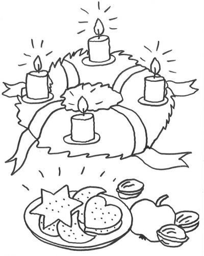 Ausmalbilder Weihnachten Adventskranz Inspirierend Advent Adventskranz Zum Ausmalen Kostenlose Malvorlagen Stock