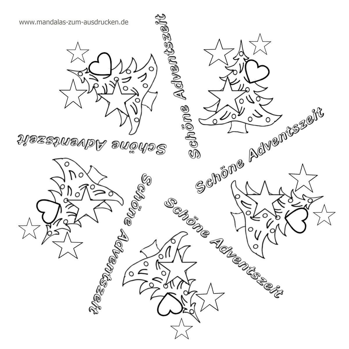 Ausmalbilder Weihnachten Kostenlos Drucken Einzigartig Weihnachten Mandala Bild