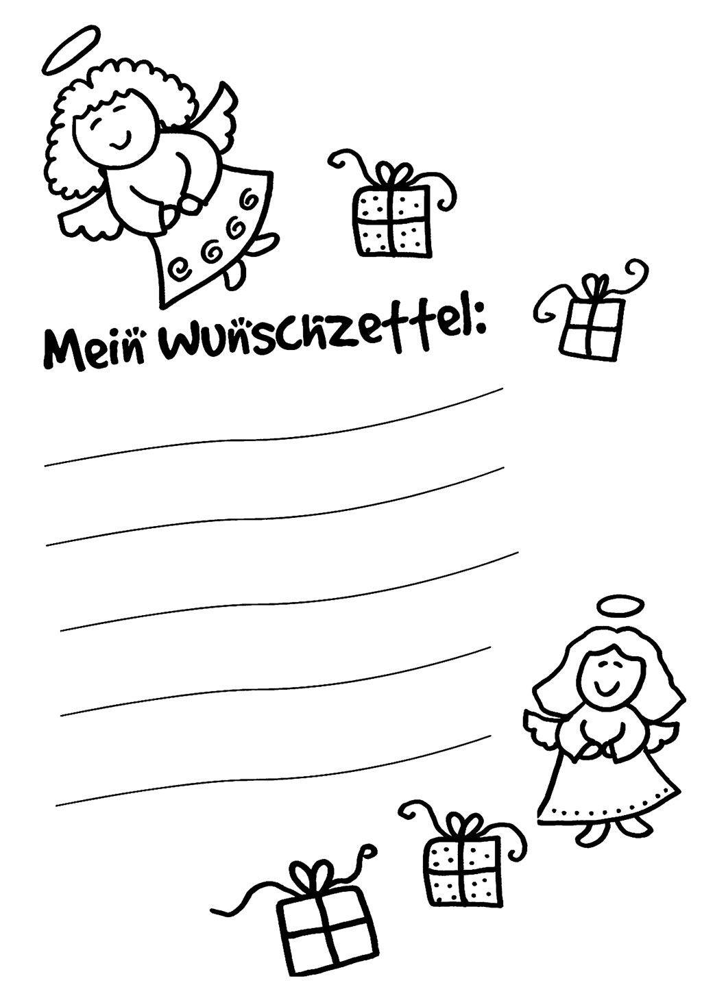 Ausmalbilder Weihnachten Muster Genial Malvorlage Wunschzettel Für Weihnachten Sammlung
