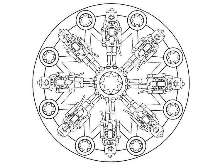 Weihnachten Mandala Ausmalbilder