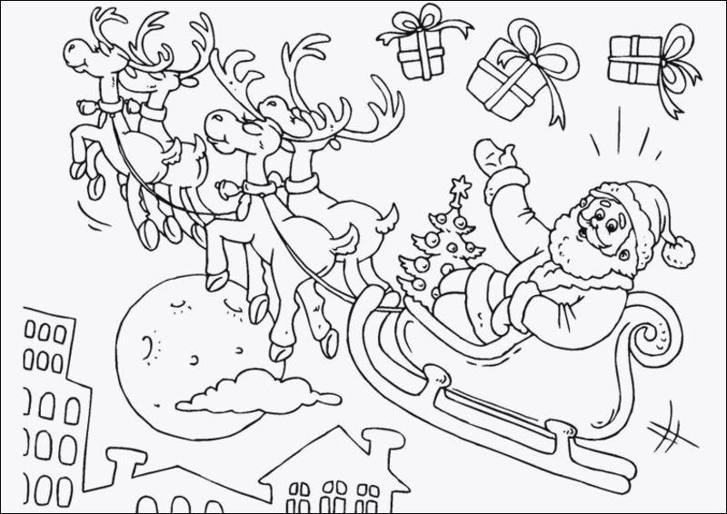ausmalbilder weihnachten schlitten inspirierend kinder