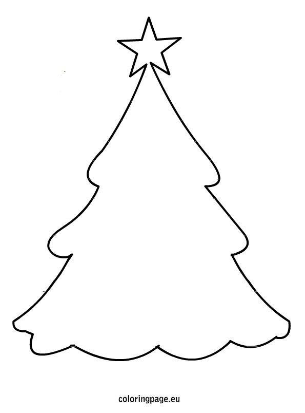 Ausmalbilder Weihnachten Tannenbaum Frisch Christmas Tree Template Bild