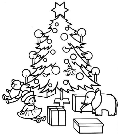 Ausmalbilder Weihnachten Tannenbaum Mit Geschenken Genial Christbäume Malvorlagen Galerie