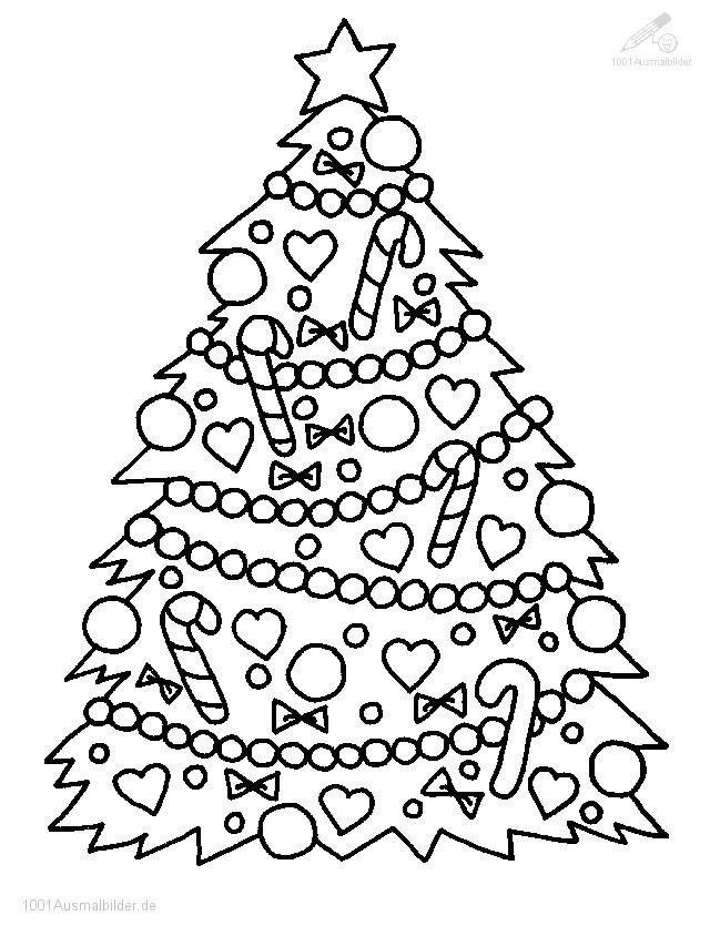 Ausmalbilder Weihnachten Tannenbaum Mit Geschenken Inspirierend Christbaum Malvorlage Bild