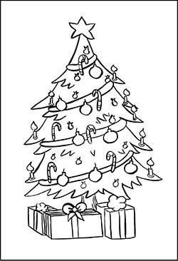 Ausmalbilder Weihnachten Tannenbaum Mit Geschenken Inspirierend Christbaum Malvorlage Sammlung
