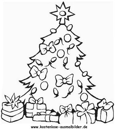 Ausmalbilder Weihnachten Tannenbaum Neu Christbaum Malvorlage Fotografieren