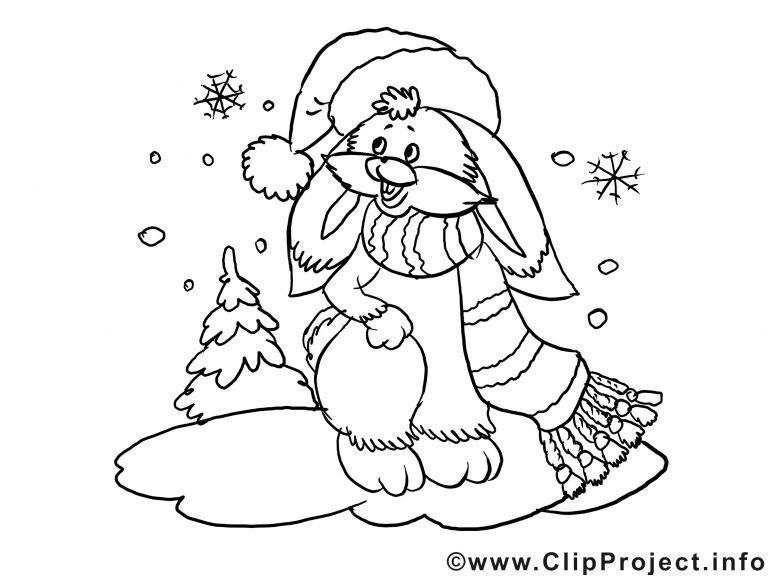 Ausmalbilder Weihnachten Winter Frisch Kostenloses Ausmalbild Hase Im Winter Inside Malvorlagen Fotografieren