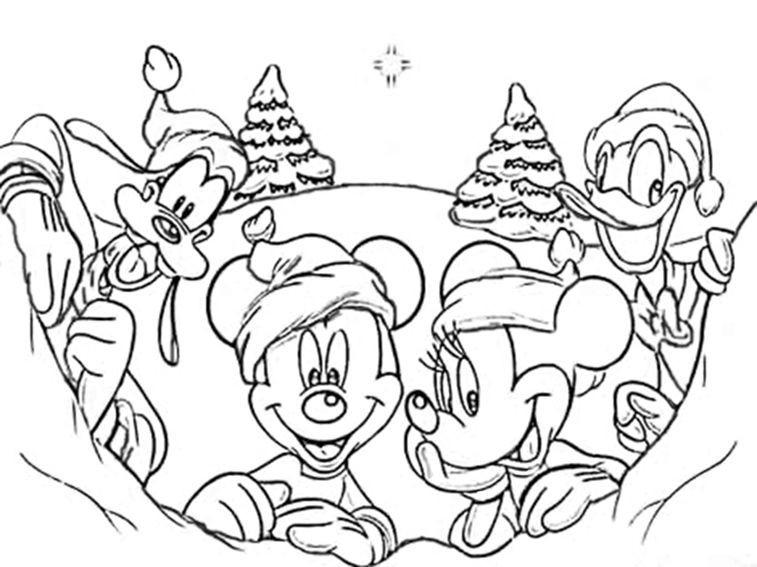 Gratis Ausmalbilder Weihnachten Disney Einzigartig Disney Figuren Malvorlagen Weihnachten Das Bild