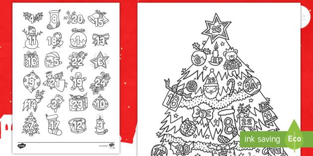 Malvorlagen Weihnachten Din A4 Neu Adventskalender Ausmalbilder Weihnachten Advent Bild
