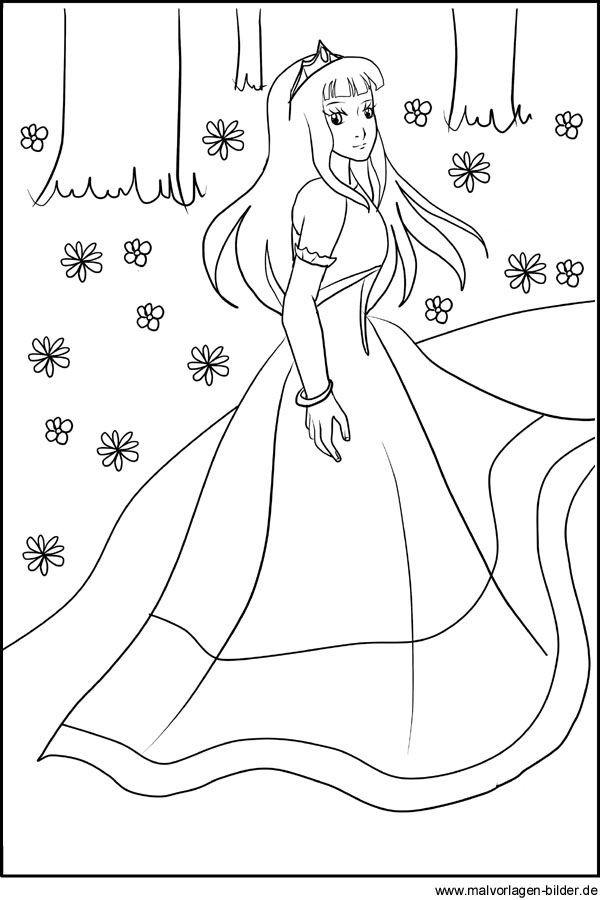 ausmalbild Prinzessin