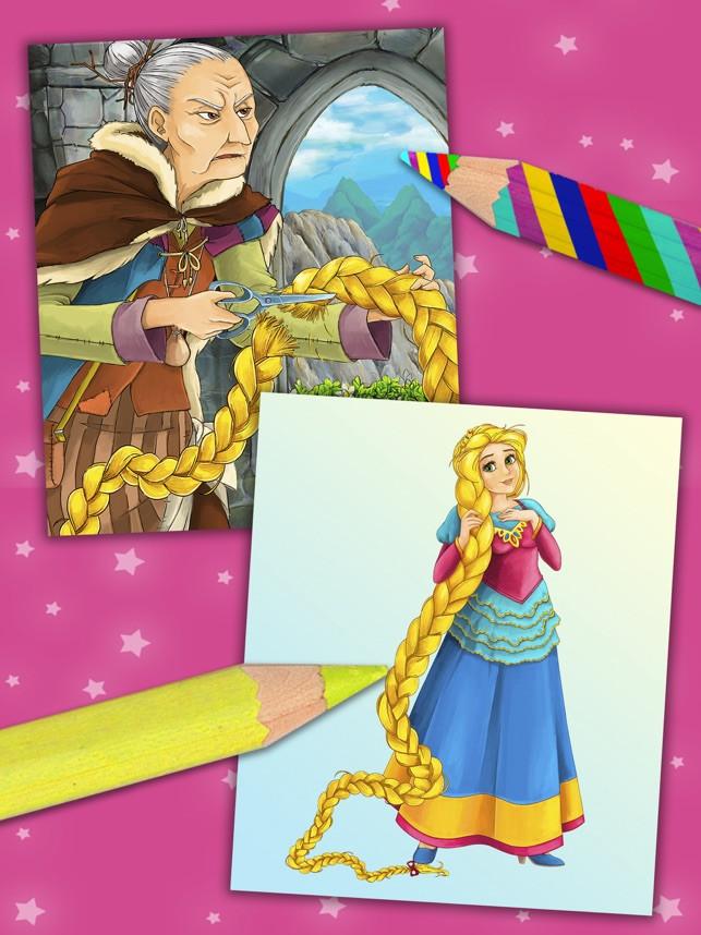 Ausmalbilder Prinzessin Feen Das Beste Von rapunzel Magic Princess Kinder Malbuch Pro 3id6 Stock