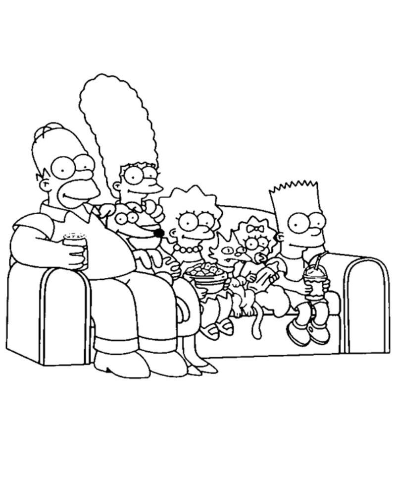 Malvorlagen Die Simpsons Neu Einzigartig Ausmalbilder Zum Ausdrucken Simpsons Irdz Stock